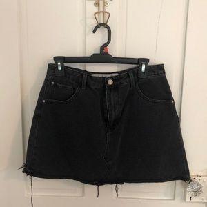 Black denim skirt US size 10